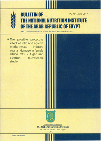 Bulletin of the National Nutrition Institute of the Arab Republic of Egypt